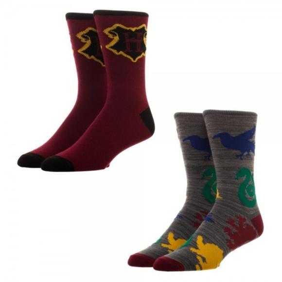 5ff8d2a37511 Bioworld Underwear & Socks | Harry Potter 2 Pairs Mens Crew Socks ...